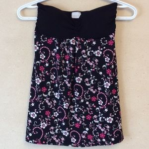 3/30$🌸floral patterned strapless tank
